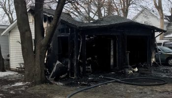 Garage Fire in Union Grove
