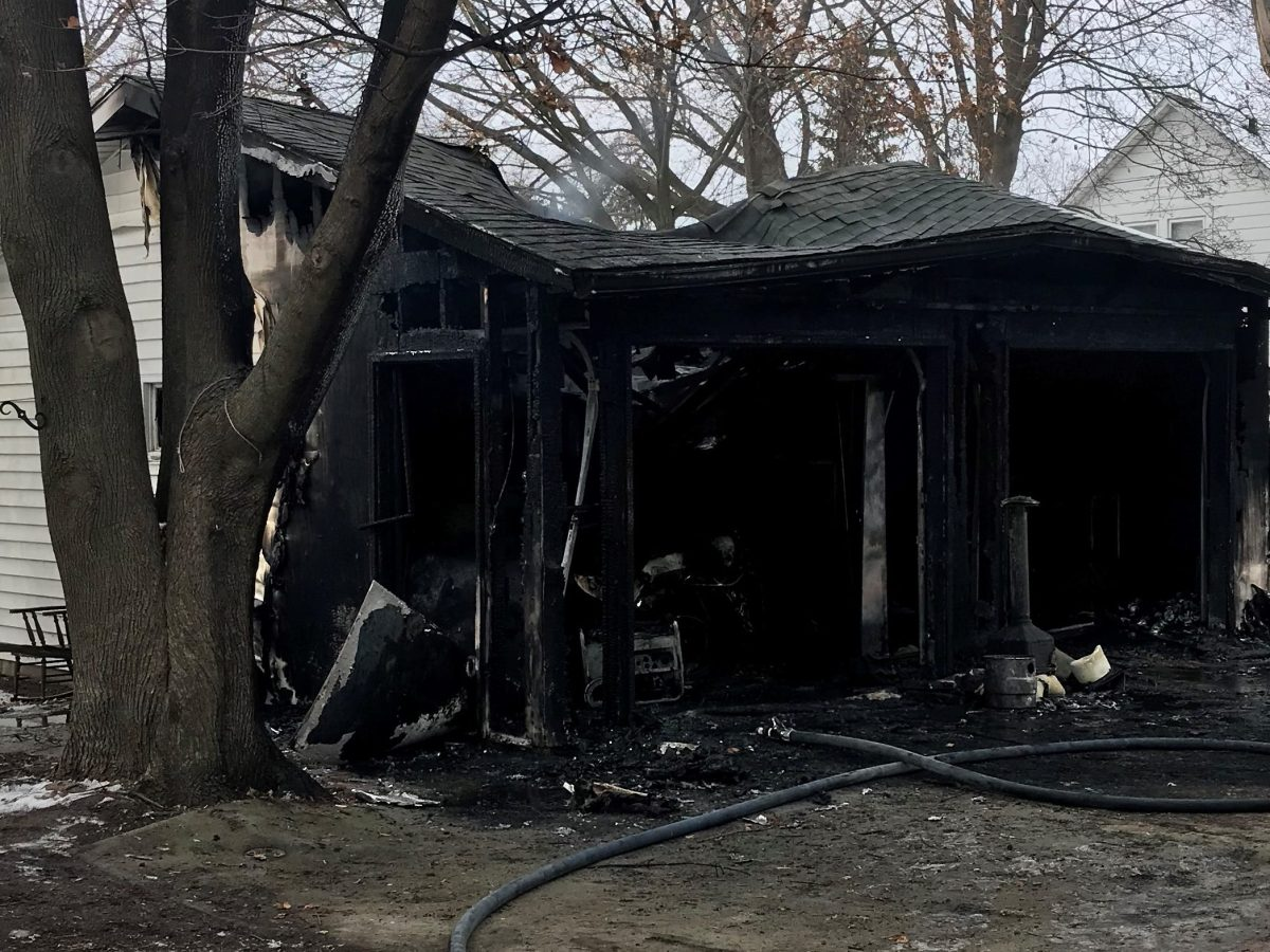 Garage Fire in Union Grove