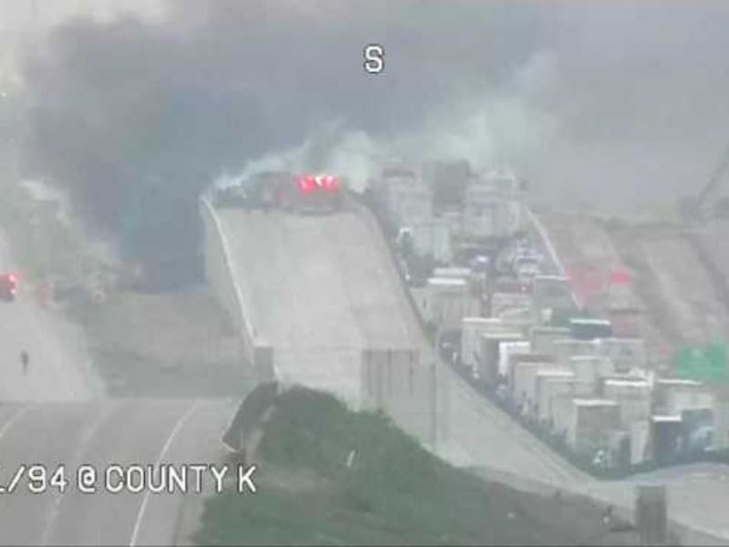 Interstate 94 semi explosion