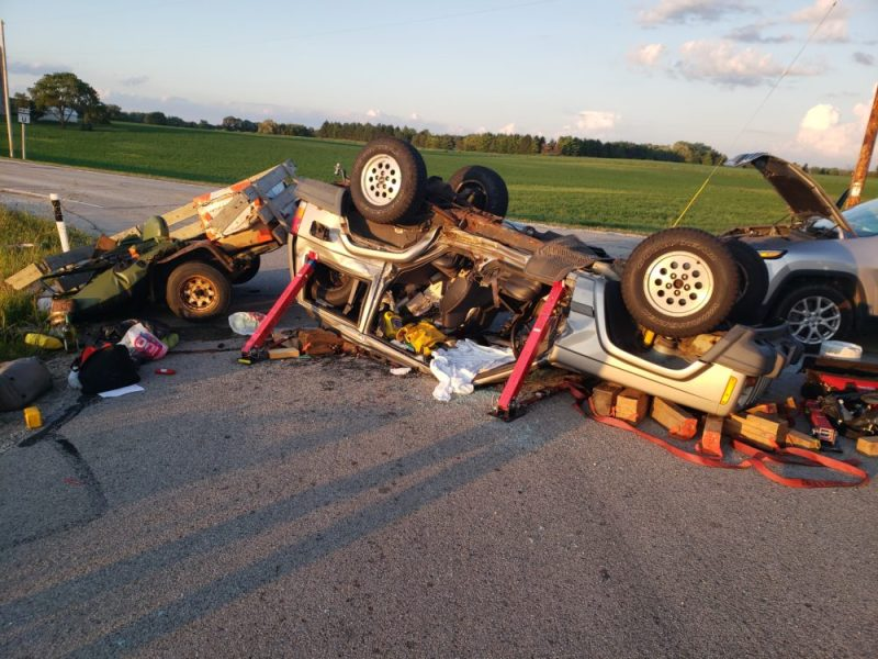 Raymond, Wisconsin, crash, 76th Street and Highway G