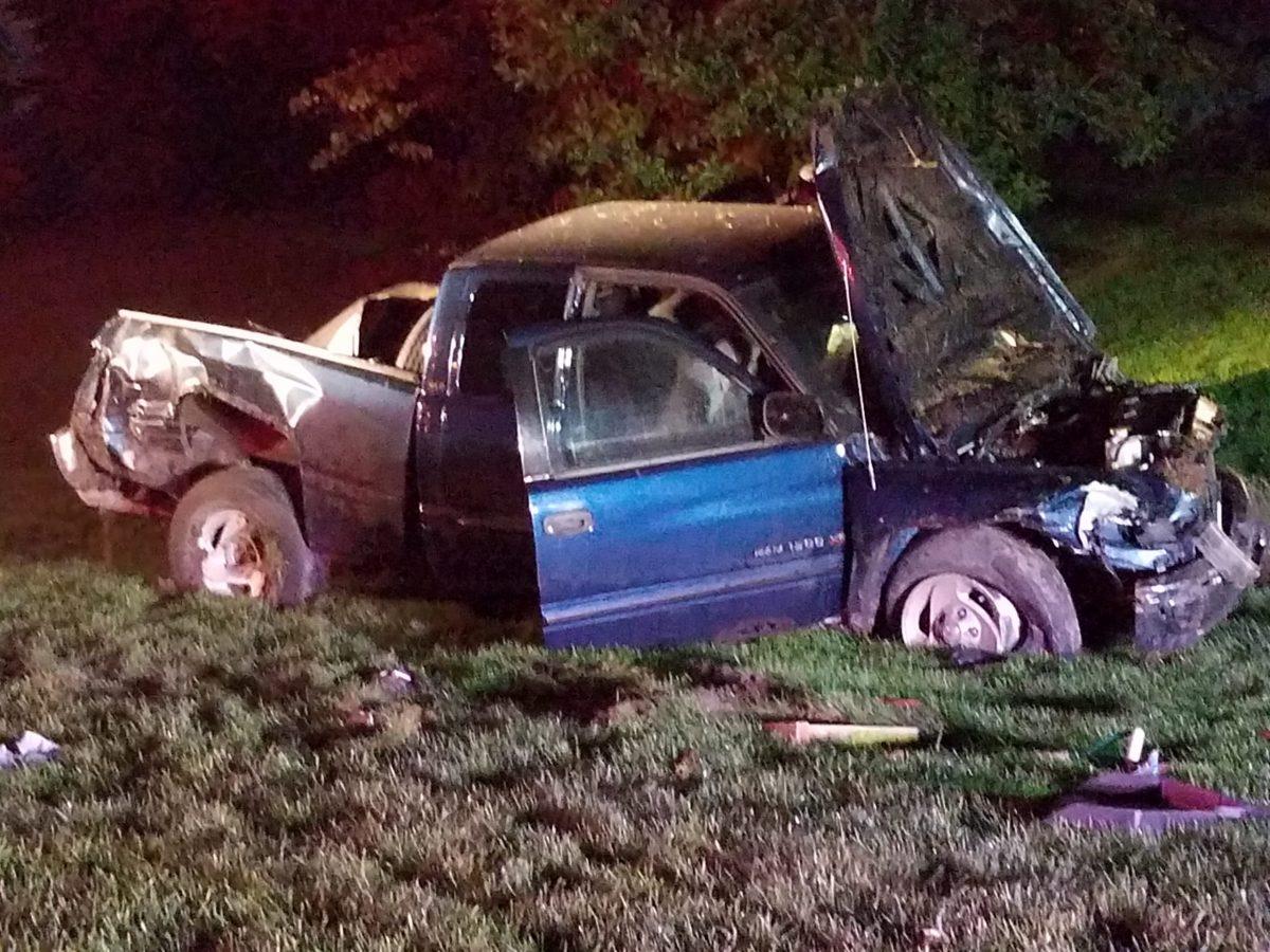 one-car crash, Mount Pleasant, WIsconsin