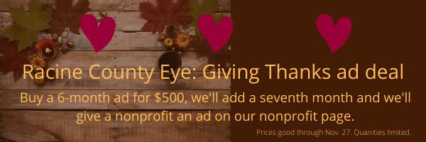 Racine, Wisconsin Thanksgiving Advertising special