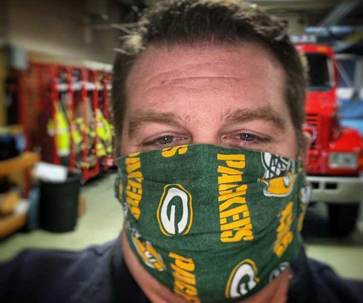Racine County Eye, face mask fashion show