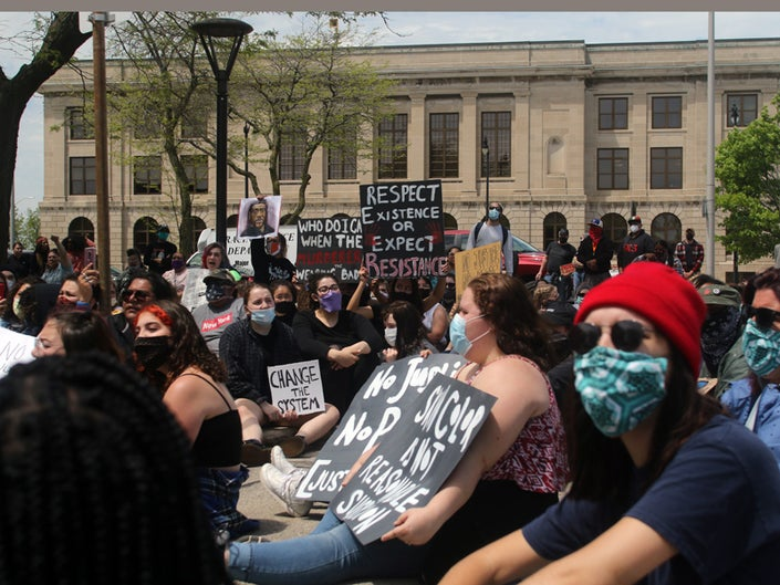 Curfew, Racine, Wisconsin, protests