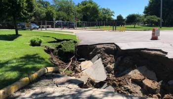 quarry lake park sinkhole racine county