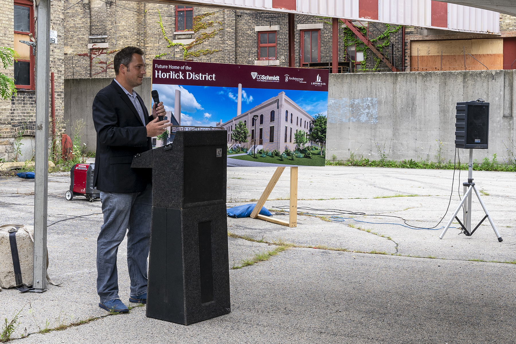 historic horlick malted milk groundbreaking ceremony