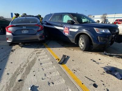 Crash on Interstate 94