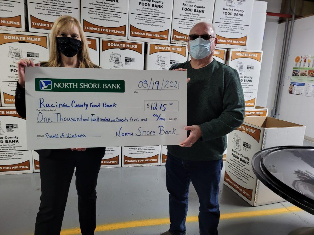 racine county food bank on kindness north shore bank