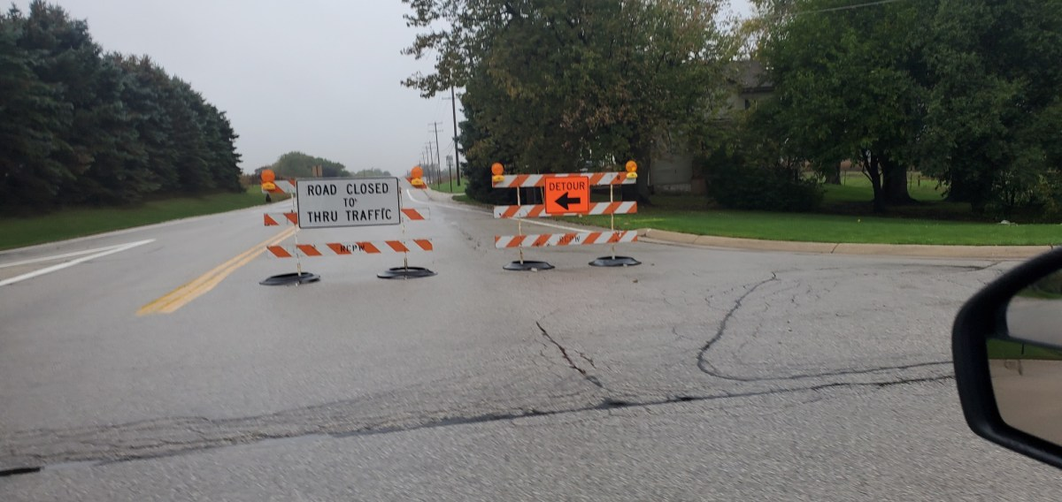 Road Closure, County Highway G