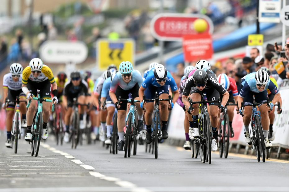 'You had to find gaps that didn't exist': Chloe Hosking 3rd in chaotic finish