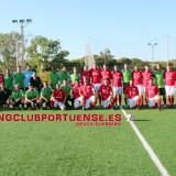 El Racing Club Portuense de Veteranos se lleva el amistoso de la deportividad ante el CD Toledo