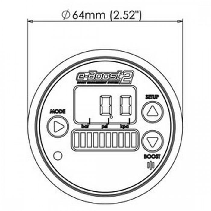 Buy Turbosmart eBoost2 eB2 60mm Black Face and Bezel Boost