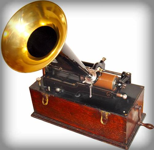 Edison Phonograph: Suitcase Model, 1899.