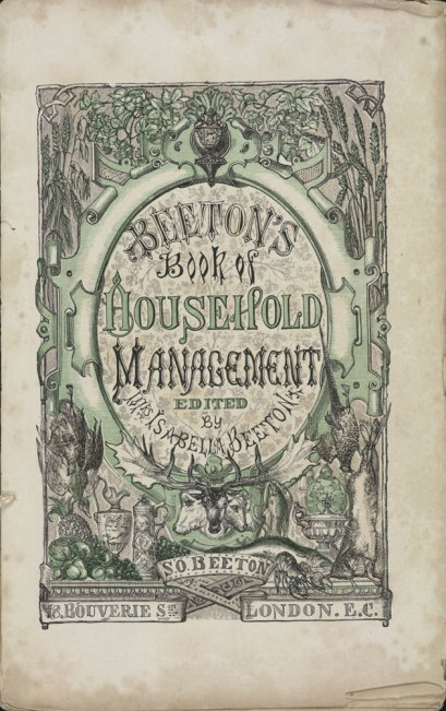 Mrs. Beeton's Book of Household Management, 1861.