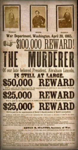 John Wilkes Booth wanted poster.