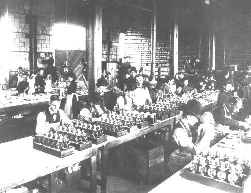 Edison's TalkingDoll In Production.