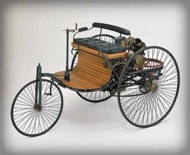 Benz Patent Motorwagen, 1 hp, 1885.