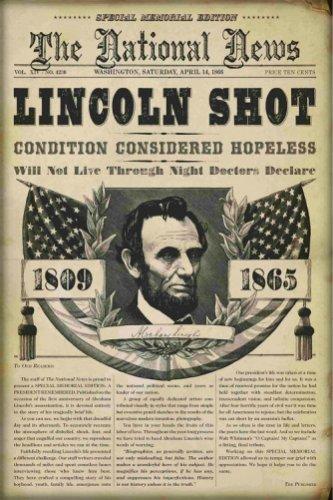 Headline announcing Lincoln's assassination.