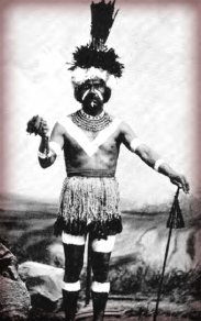 Chumash 'antap dancer, 1878.