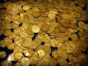Hoard of Gold Coins.