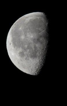 Partial moon.