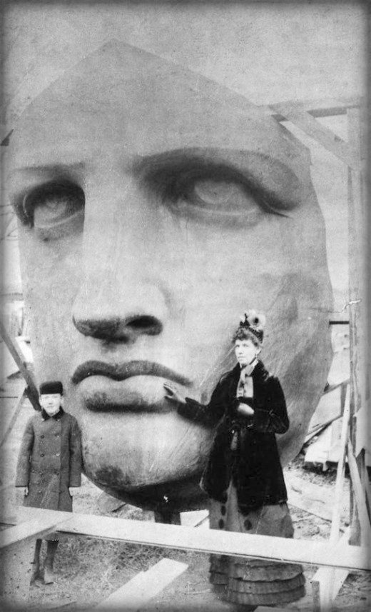 Head of the Statue of Liberty, 1885.