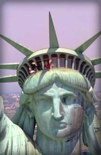 Nancy Reagan Reopens Statue of Liberty, 1986.