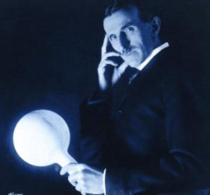 Tesla Demonstrates Wireless Transmission, 1890s.