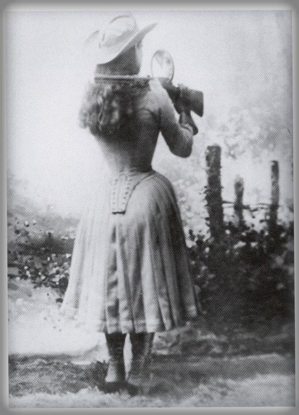 Annie Oakley's Famous Mirror Shoot.