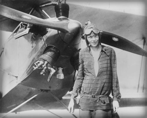 Amelia Earhart, 1928.