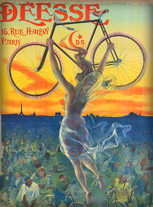 French Bicycle Poster, 1890s.