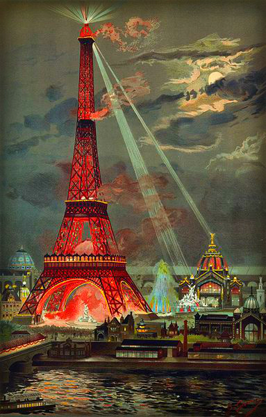 Eiffel Tower During 1889 Exposition, Georges Garen. Photo: Wikipedia.