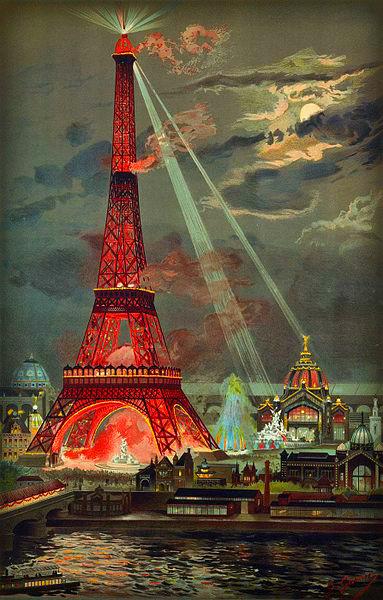 Eiffel Tower During 1889 Exposition, Georges Garen. Photo: Wikipedia.