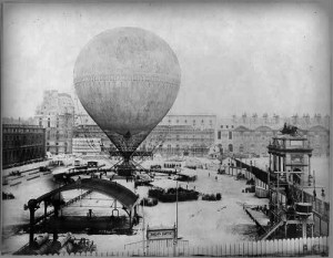Henri Giffard, Hot Air Balloon In Paris, 1878. Photo: Library of Congress.