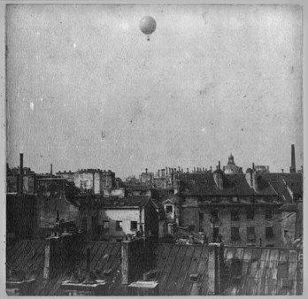 Henri Giffard, Hot Air Balloon In Paris, 1878. Photo: Library of Congress.