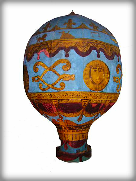 Montgolfier Brothers Balloon Model, London Science Museum. Photo: Mike Young, Wikipedia.