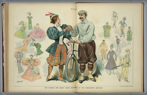 The New Woman's Cycling Outfit, 1890s.