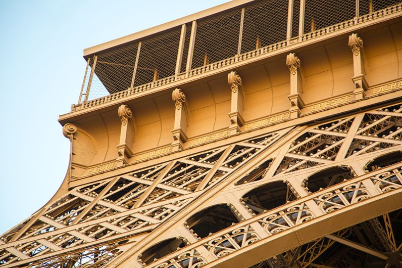 Eiffel Tower Facts: Names of 72 Scientists. Photo: victor Grigas.