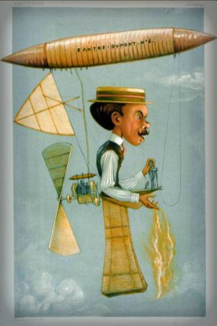 "Alberto Santos Dumont, Vanity Fair, 1901. ""GEO HUM"