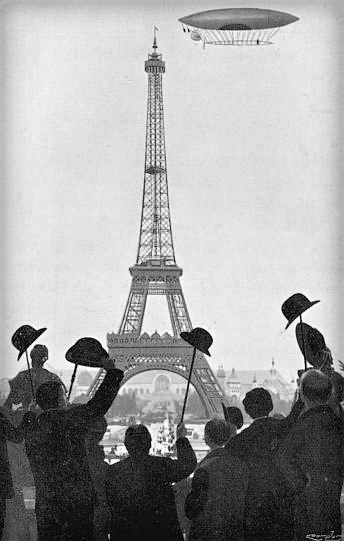 No. 6 Rounds Eiffel Tower. Photo: My Airships by Alberto Santos-Dumont.