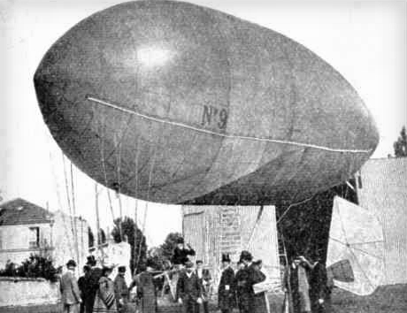 Santos-Dumont No.9. Photo: My Airships by Alberto Santos-Dumont.