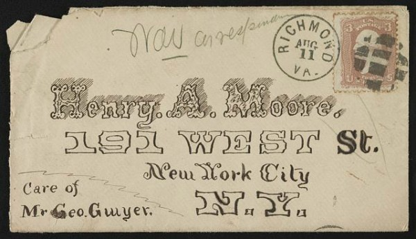 Telegram, 1800s. Library of Congress.