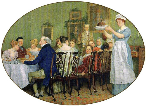 Victorian Era Christmas Dinner.