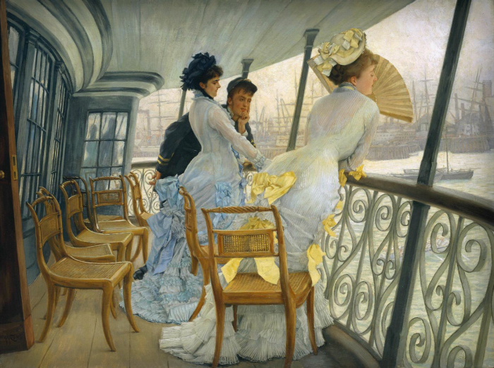The Gallery of HMS Calcutta by James Tissot, 1876. Image: Wiki Commons.