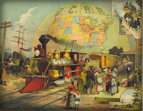 The Railroad Scene, 1882. Image: Library of Congress.