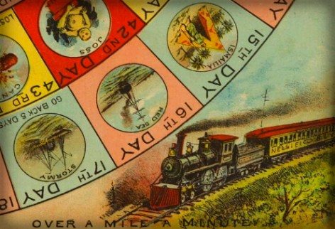 Nellie Bly: Victorian Era Around The World Game Board.