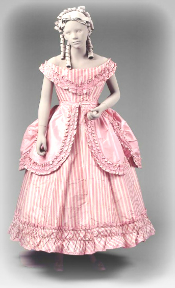 Girl's Party Dress, 1865-1870: Boston Museum of the Fine Arts.
