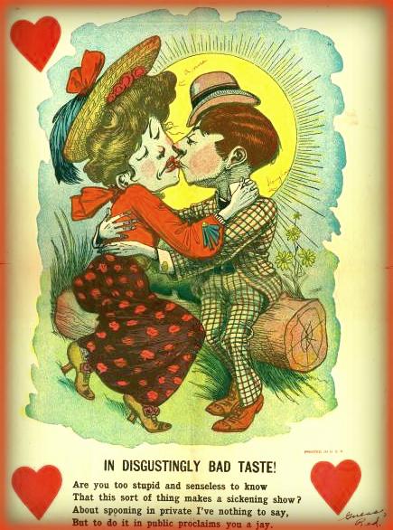 Victorian Era Vinegar Valentine. Bad Taste.