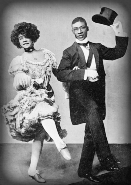 """Aida Overton Walker and George Walker Dance On London Tour Of - """"In Dahomey"""" 1903."""
