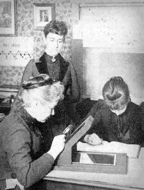 Williamina Fleming With Colleagues At Harvard College Observatory.